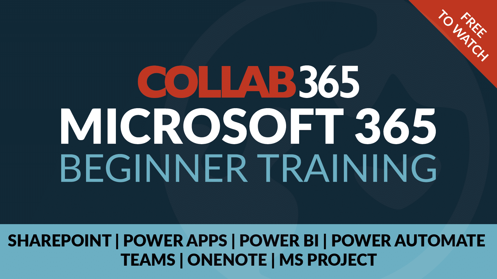 free Microsoft 365 begnners training