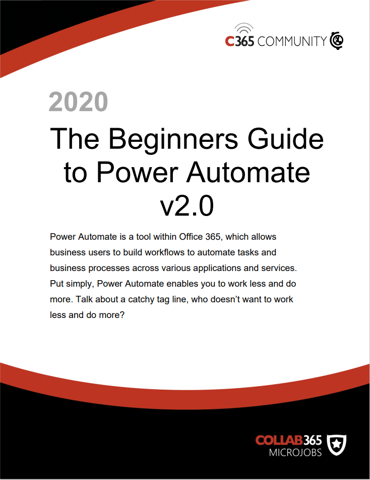 Beginners Guide to Power Automate (version 2)