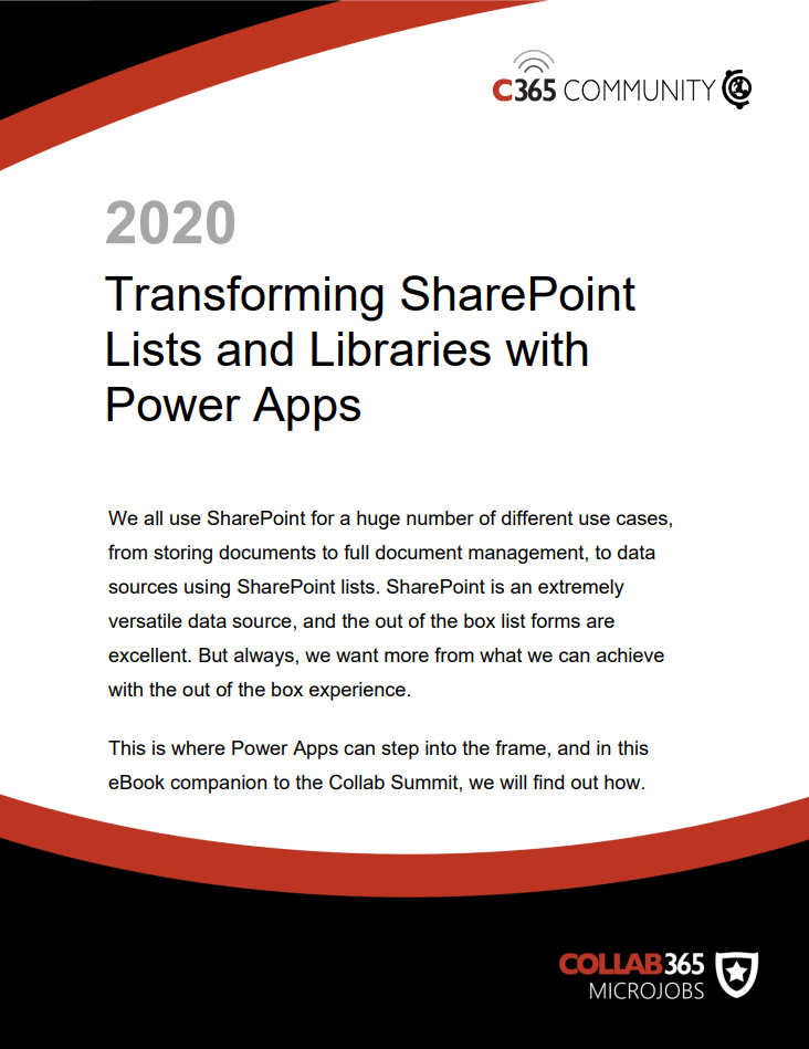 Transforming SharePoint Lists and Libraries with Power Apps