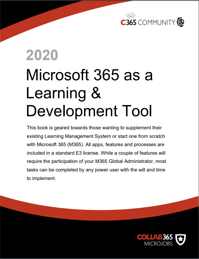 Microsoft as a learning and development tool